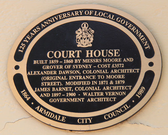 Armidale Courthouse, early Australian courthouses,