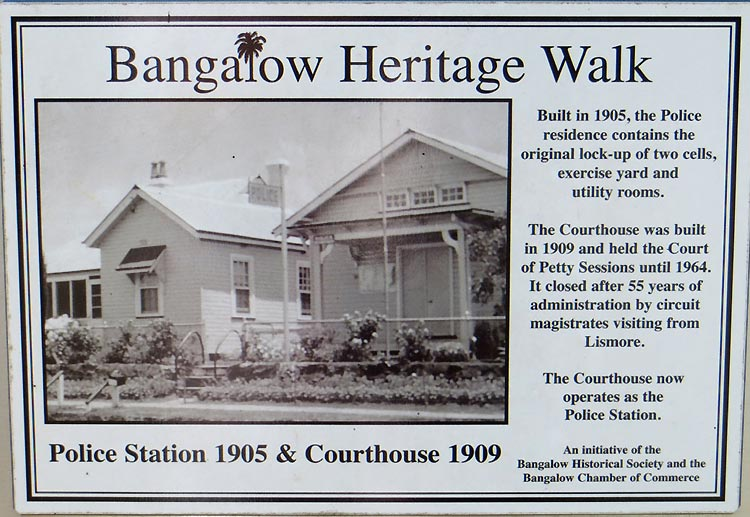 Bangalow-plaque