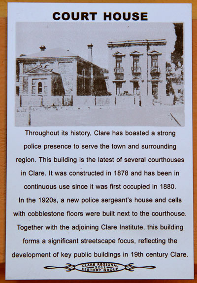Clare Courthouse Plaque