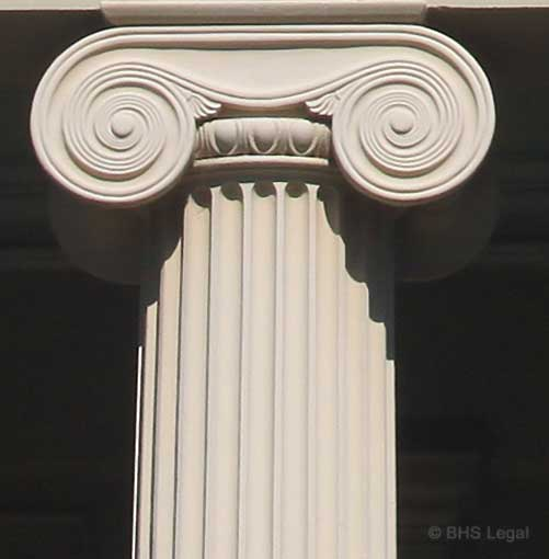 early Australian Courthouse column, Young, NSW