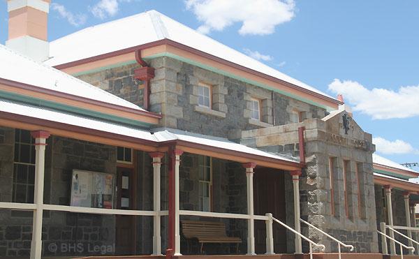 Glen Innes Courthouse, early Australian Courthouses, Australian legal history