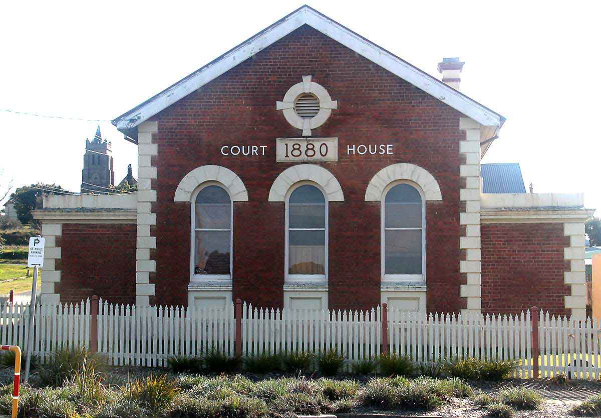 Murrumburrah Courthouse (former), 1880, corner of Vernon and Albury Streets, Murrumburrah, NSW.