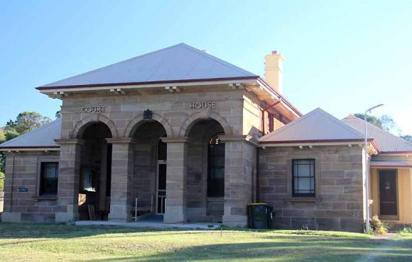 Murrurundi Courthouse, old Australian courthouses, early Australian courthouses, Australian courthouses