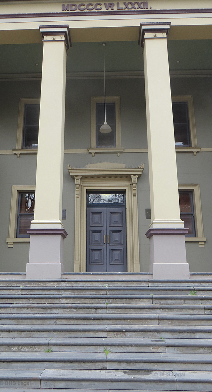 Orange Courthouse, New South Wales, early Australian courthouses, old Australian courthouses, succession law, inheritance law